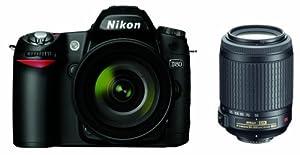 Nikon D80 10.2MP Digital SLR Camera Kit with 18-55mm f/3.5-5.6G AF-S DX VR & 55-200mm f/4-5.6G ED IF AF-S DX VR Nikkor Zoom Lenses