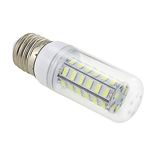 Generic E27 7W 48X5730 Smd 550~600Lm 5500~6500K White Light Led Clear Cover Corn Bulb Lamp Ac 220V~240V
