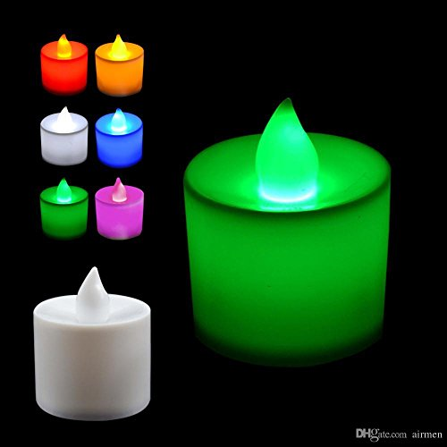 Abtrix Colour Changing Set Of 12 Flameless Tea Light Led Candle With Replacable Battery
