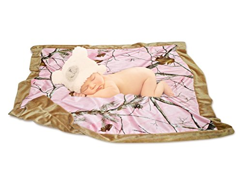 Mossy Oak Realtree Baby Blanket in Drawstring Mini Tote (Realtree Pink) - 1