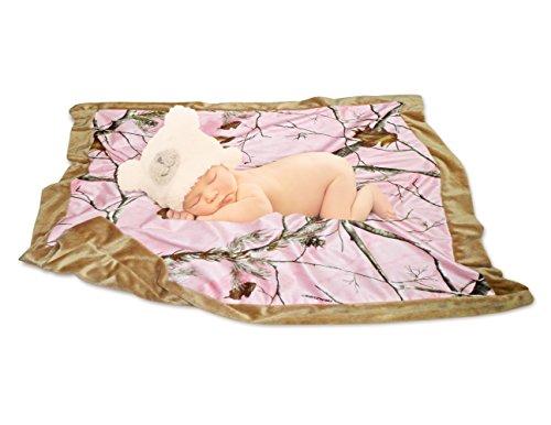 Mossy Oak Realtree Baby Blanket in Drawstring Mini Tote (Realtree Pink)