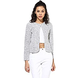 Cashewnut Women Basic Solid Jackets-XL