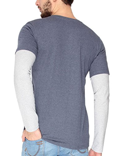 Campus-Sutra-Mens-cotton-Mens-cotton-Blue-Melange-Round-Neck-Full-Sleeve-Tshirt