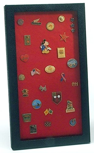 Pin Collector's Display Case - for Disney, Hard Rock, Olympic, Political Campaign & other collectible pins and medals - holds up to 100 pins - felt-covered backing, compact, handy magnetic closure (Boy Scout Display Case compare prices)