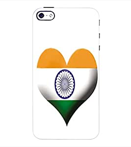 ColourCraft Indian Flag Back Case Cover for APPLE IPHONE 4S