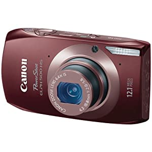 Canon PowerShot ELPH 500 HS 12.1 MP CMOS Digital Camera with Full HD Video and Ultra Wide Angle Lens (Brown)