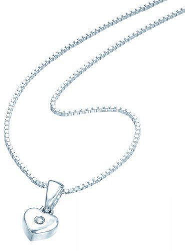 D for Diamond Children's Chain Necklace 925 Sterling Silver 35 cm P 620