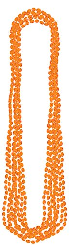 Orange Metallic Beads Necklace 8ct