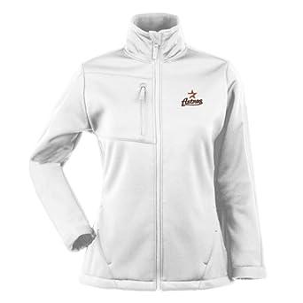 Houston Astros Ladies Jacket - MLB Antigua Ladies Traverse Performance Jacket - White by Antigua