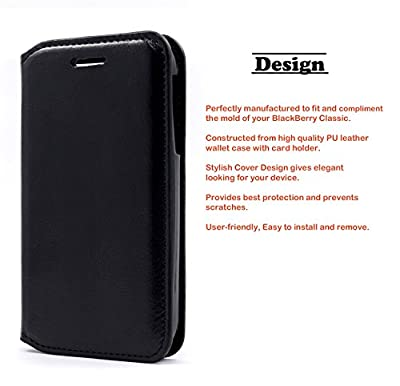 BlackBerry Classic Smartphone (NEW) 2014 Case - NageBee - Design Dual-Use Flip PU Leather Fold Wallet Pouch Case for BlackBerry Classic Smartphone by NageBee
