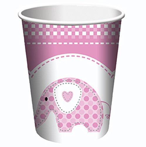 Sweet Baby Elephant Christening Plates - Pink 23Cm front-568280
