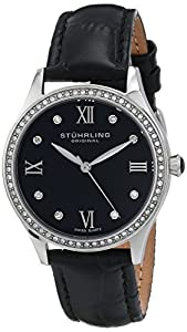 Stuhrling Original Women's 431.01 Vogue Analog Display Swiss Quartz Black Watch