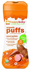 Happy Baby Organic Puffs,Sweet Potato, 2.1 Ounce (Pack of 6)
