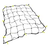Cargo Net with 16 Durable Nylon Hooks - Large 36 x 60- Stretches to 60 x 90 by Grizzly Gear