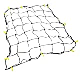 "Cargo Net with 16 Durable Nylon Hooks - Large 36"" x 60""- Stretches to 60"" x 90"" by Grizzly Gear"