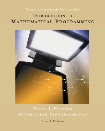 Introduction to Mathematical Programming: Applications...