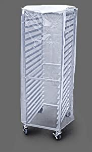 New Star Plastic 20-Tier Commercial Kitchen Bun Pan Rack Cover, 28-Inch by 23-Inch by 61-Inch, Set of 2, Clear