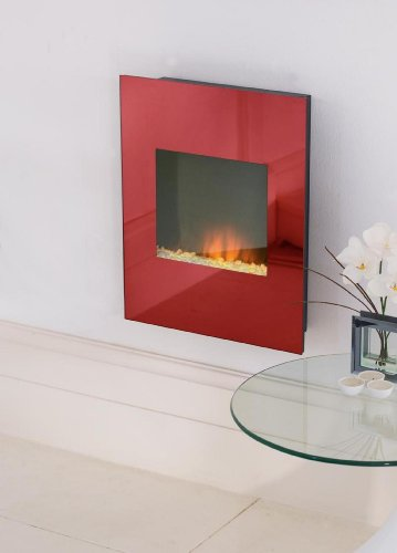 Alexis Red Wall Hanging Electric Fire