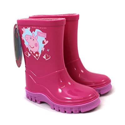 Peppa Pig Wellies / Wellingtons - Pink - From UK Child Shoe Size 4 to 10