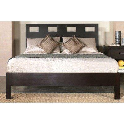 Modus Furniture Nevis King Riva Platform Bed, Espresso