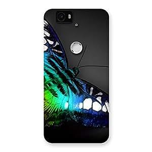 Gorgeous Butterflie Power Multicolor Back Case Cover for Google Nexus-6P