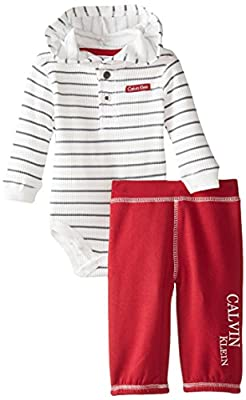 Adorable Boys Thermal with Red Pants by Calvin Klein