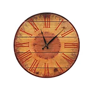 Gizaun Art Warm Sunflower Clock Yard Art 24