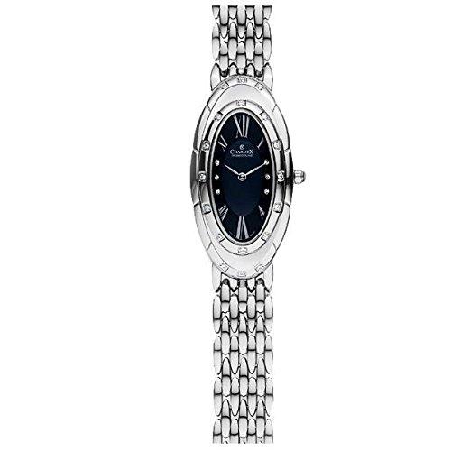 Charmex L's Bracelet Watch Femme Argent Acier Bracelet & Boitier Montre 5902