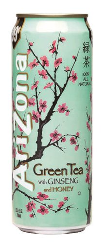 Arizona Green Tea, 23-Ounces (Pack Of 24)