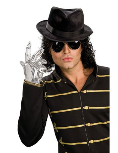 Costume-Accessory Michael Jackson Silver Adult Glove Halloween Costume Item