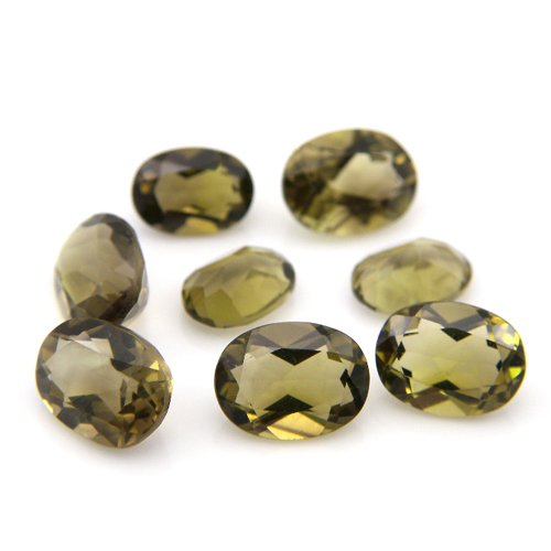 Natural Smoky Quartz Loose Gemstone Oval Cut 7*5mm 8.35cts 8pcs Wholesale Lot
