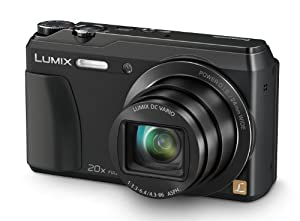 Panasonic Lumix DMC-TZ55EB-K Compact Digital Camera - Black (16.0MP, 20x Optical Zoom, High Sensitivity MOS Sensor) 3 inch LCD (New for 2014)