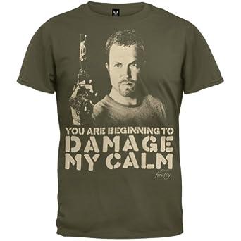 Firefly - Mens Damage My Calm T-shirt - Medium Dark Green