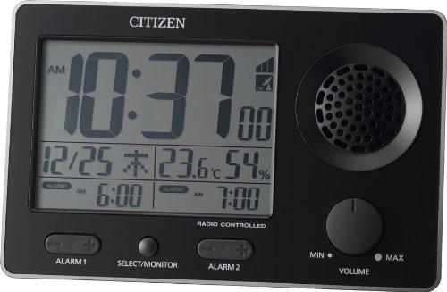 CITIZEN 大音量電波目覚まし Wアラーム機能付 スーパークリアトーンF 黒色 8RZ149-002