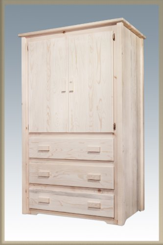 Solid Wood Armoire Wardrobe