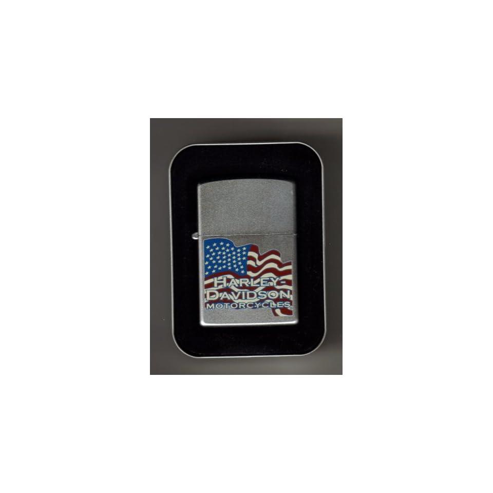 Harley Davidson Flag Zippo Lighter