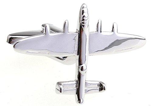 argent-avion-bombardier-lancaster-de-boutons-de-manchette-pilote-militaire-air-force-seconde-guerre-