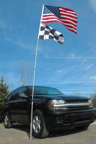 Flagpole To Go Ultimate Tailgaters Package With 17-Foot Portable Flagpole