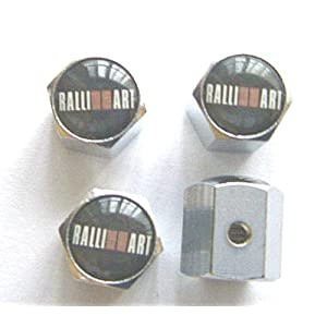 Mitsubishi Ralliart Anti-theft Car Wheel Tire Valve Stem Caps