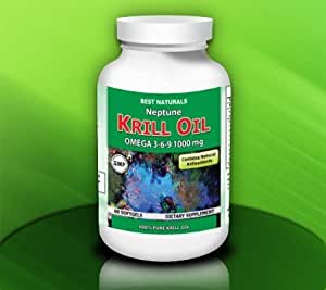 Best Naturals Neptune Krill Oil, 500 mg, 60 Softgels (100% Pure Neptune Krill Oil with Astaxanthin)