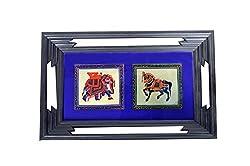 Purpledip Miniature Painting Wood Serving Tray