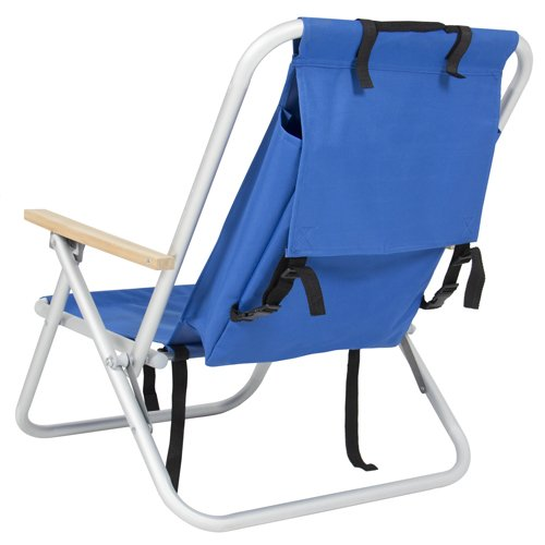 Backpack Beach Chair Folding Portable Blue Solid