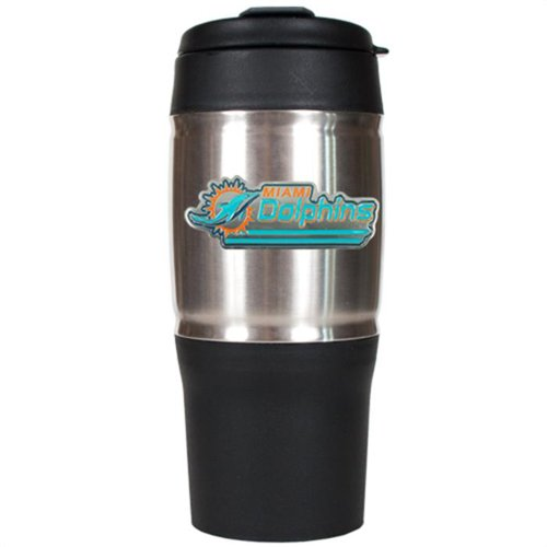 NFL Miami Dolphins 18-Ounce Travel Mug (Miami Dolphins Thermal compare prices)