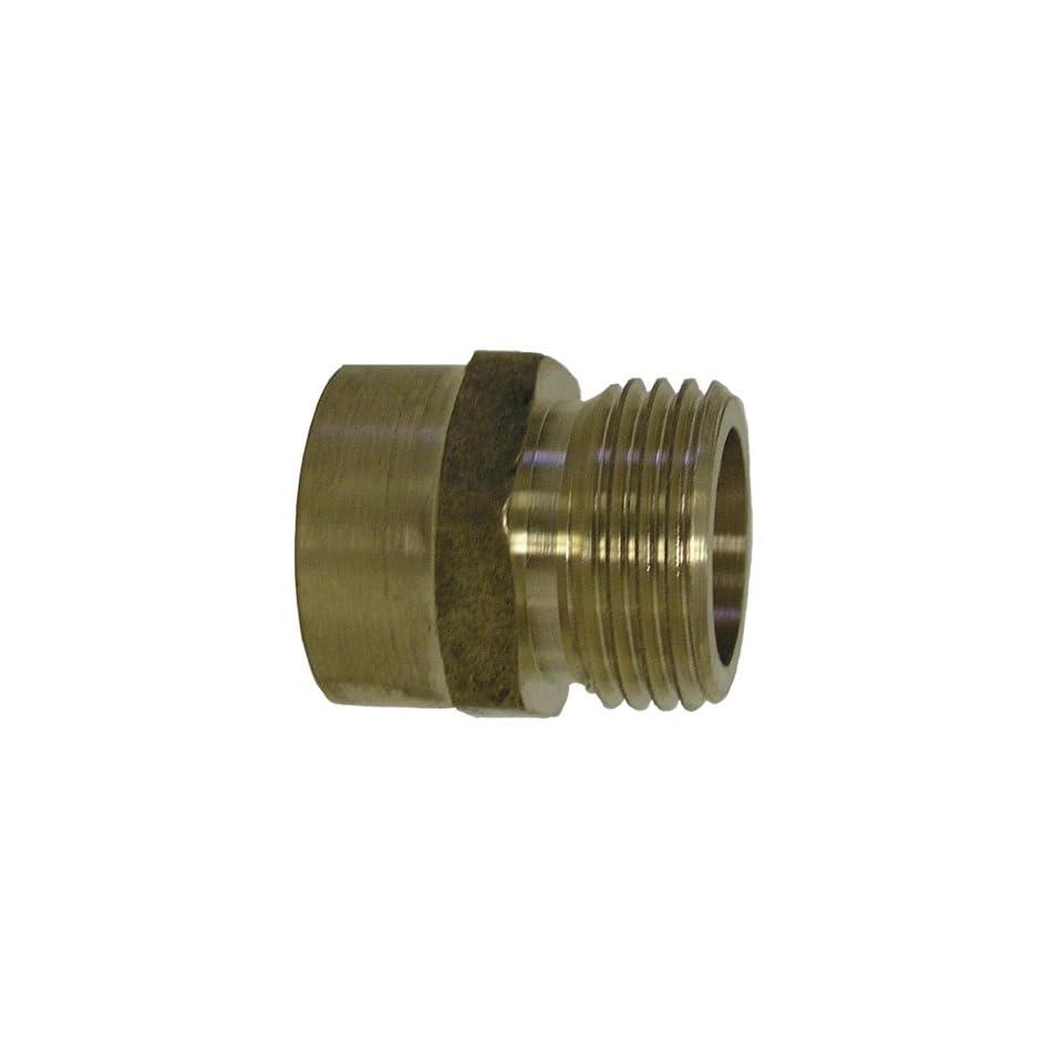 Watts A 668 Brass Garden Hose Adapter, 3/4 Inch x 1/2 Inch FPT