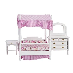 bedroom bed dresser nightstand dollhouse furniture toys