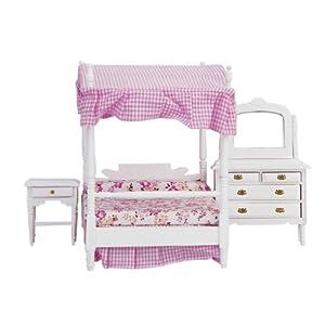 bedroom bed dresser nightstand dollhouse furniture toys