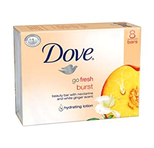 Dove go fresh Burst Beauty Bar, 4 Ounce Bars, 8 Count