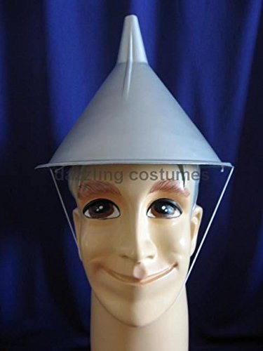 Tin Man Wizard of Oz Tinman Movie Cap Costume Accessory Prop Plastic Funnel Hat