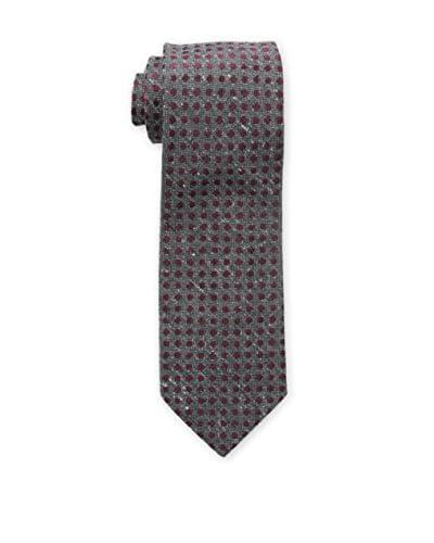 Bruno Piattelli Men's Boucle Textured Tie, Burgundy
