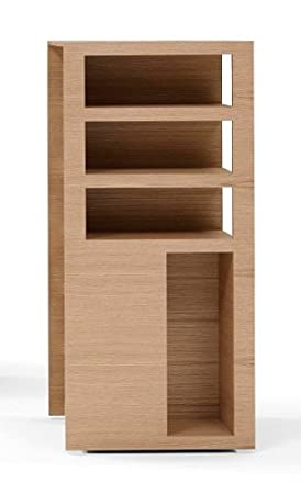 Book Tower scaffale girevole Mittel quercia naturale linte Loo